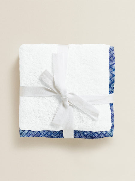 'Blue and White Dots' Organic Junior Towel Set