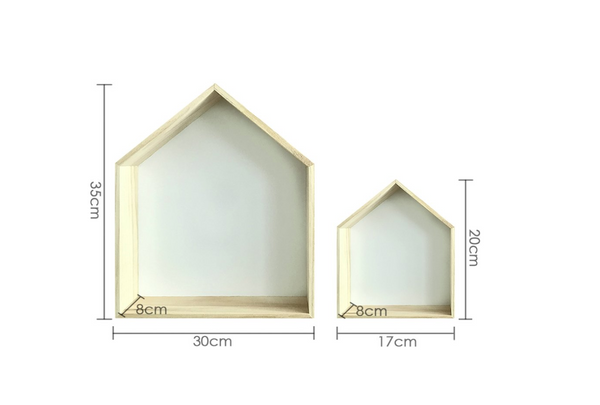 'Different Size of House Shelf' Organic Decor