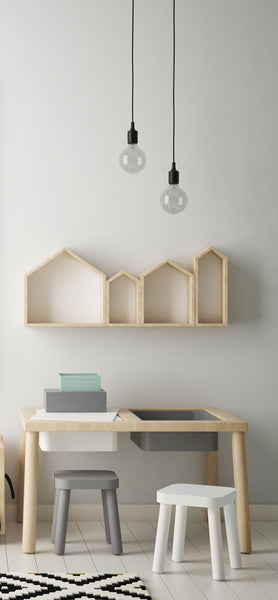 'Kids Room House Shelf' Organic Decor