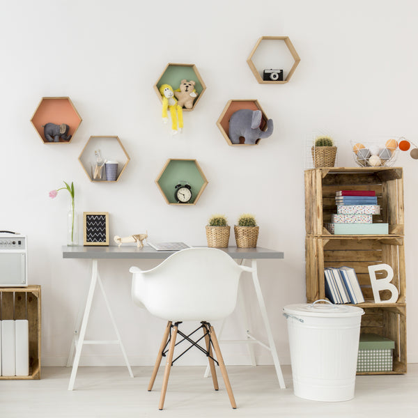 'Hexagon Shelf' Organic Decor