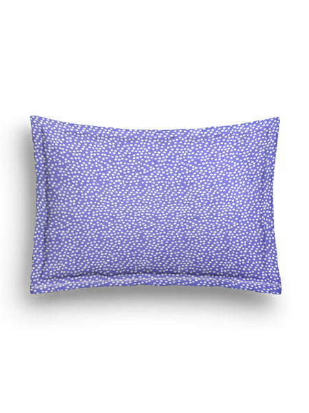 'Purple and White Spots' Organic Baby Pillow Cover