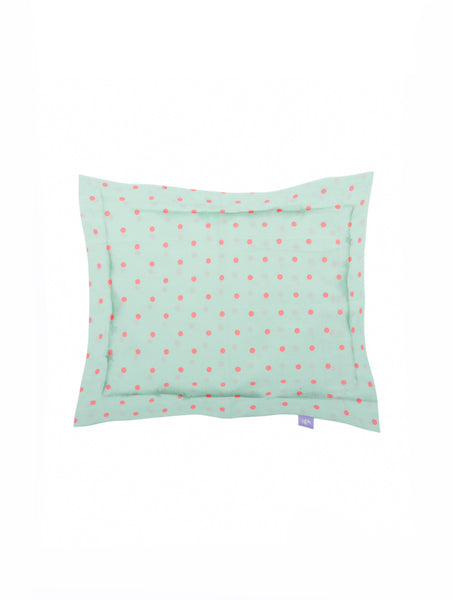 'Green and Pink Dots' Organic Baby Pillow Cover