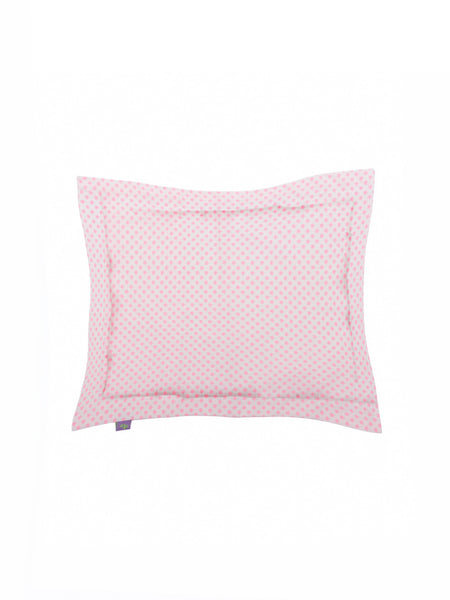 'White and Hot Pink Flowers' Organic Baby Pillow Cover
