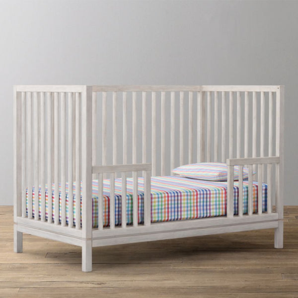 'Multi Checks' Organic Fitted Crib Sheet