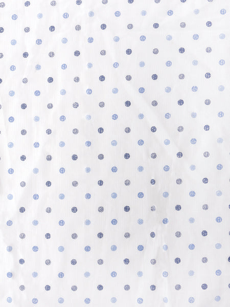 'Shaded Blue Dots' Organic Fitted Crib Sheet