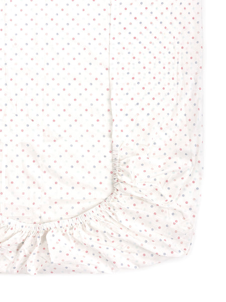 'Multi Shaded Dots' Organic Fitted Crib Sheet