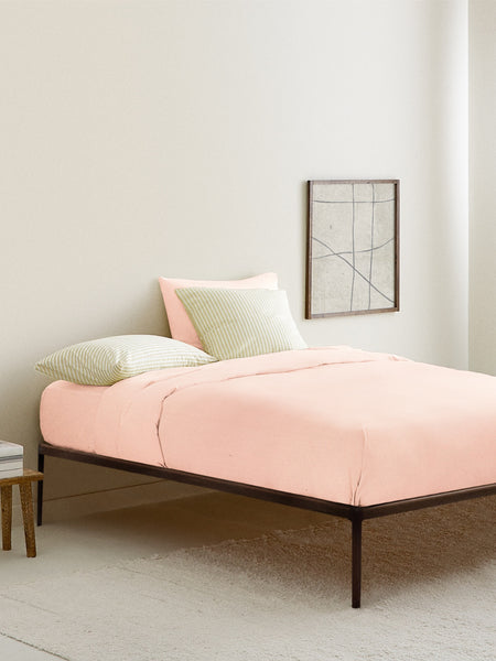 'Neutral Pink' Organic Single Fitted Sheet