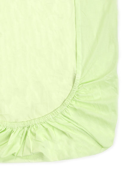 'Lime Green' Organic Single Fitted Sheet