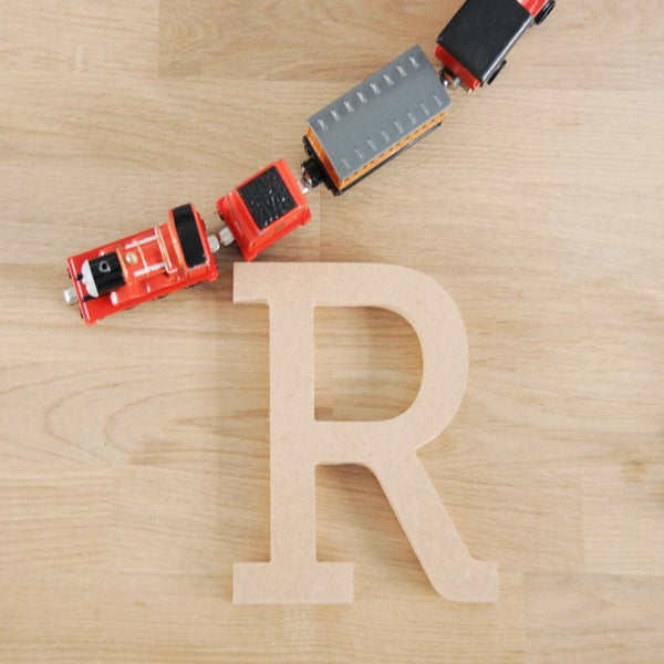 'Wooden Block Letters' Organic Decor