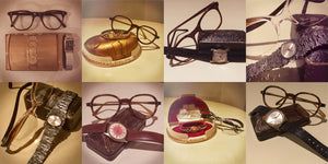 Watch U Wareing Vintage watches with Retro Spectacle vintage glasses