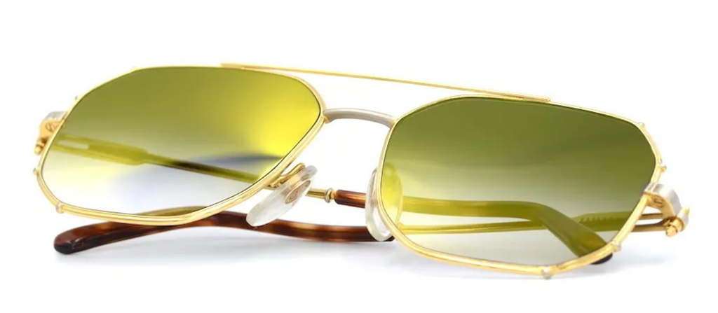 Gerald Genta Gold and Gold 01 Vintage Sunglassses