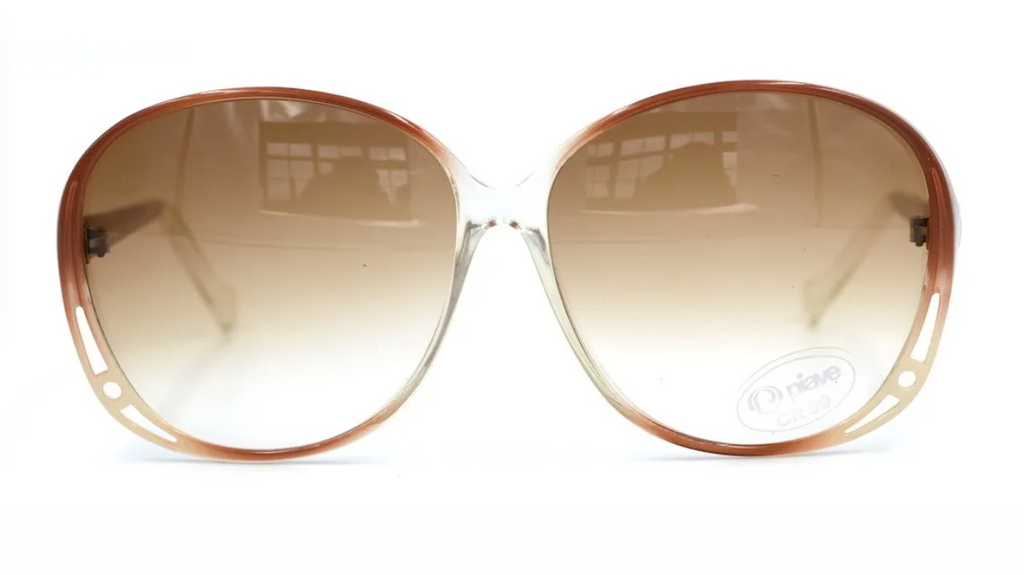 1970's Style Piave Vintage Oversized Sunglasses. 70's Style Sunglasses