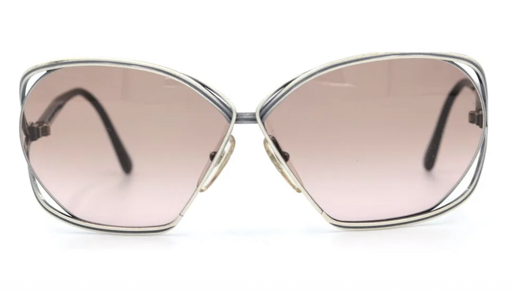 Christian Dior 2499 Vintage Sunglasses. Butterfly Vintage Sunglasses. 1970's Vintage Sunglasses.