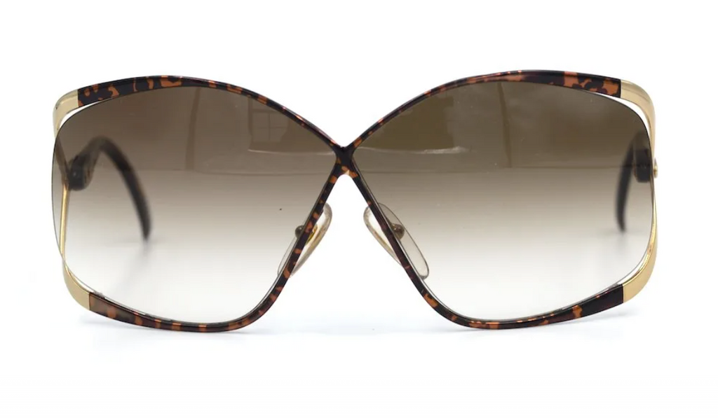 Christian Dior 2506 11 Vintage Sunglasses. Butterfly Vintage Sunglasses. 70's Vintage Sunglasses.