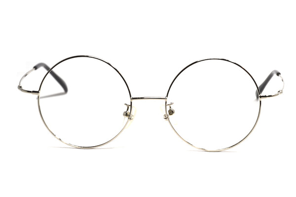 vintage inspired silver round glasses