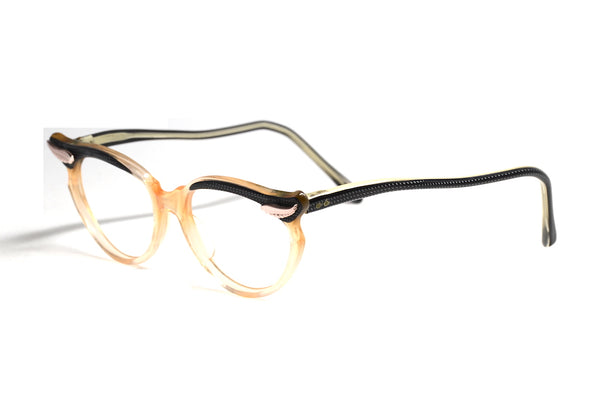 Clara 1950's petite ladies cat eye glasses