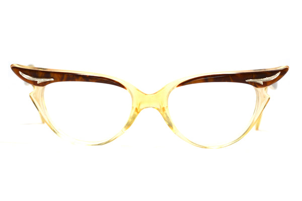 vintage cat eye glasses, birch vintage glasses, brown cat eye glasses, 1950s vintage glasses, 1950s michael birch