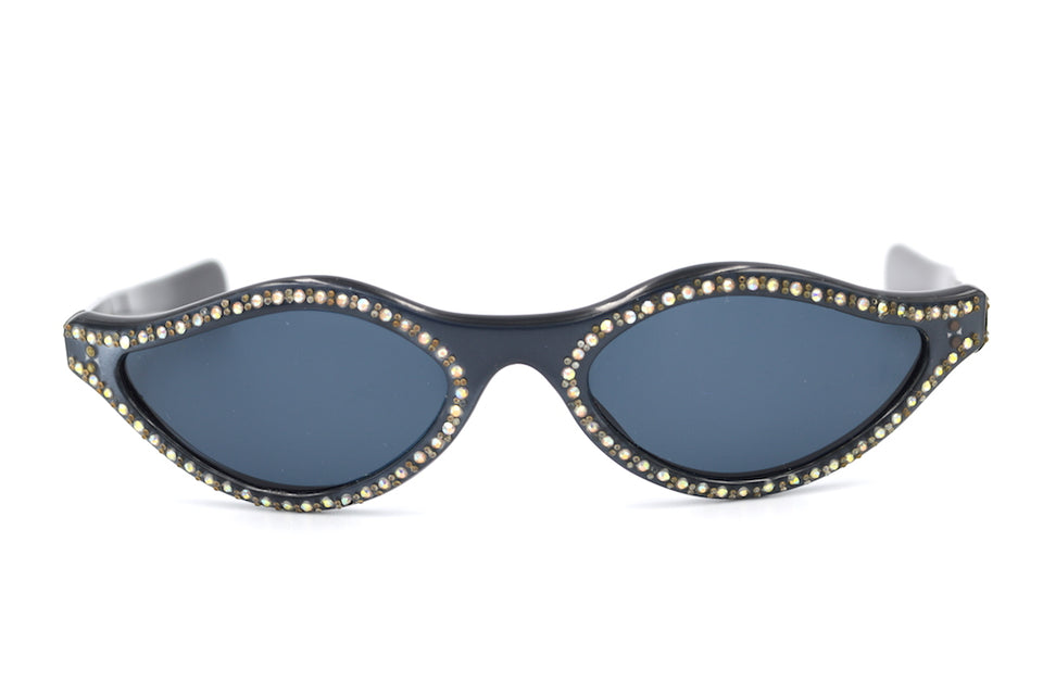 Rare Vintage Sunglasses, French Vintage Sunglasses, Diamante Sunglasses, 1940s vintage sunglasses, 1950s vintage sunglasses