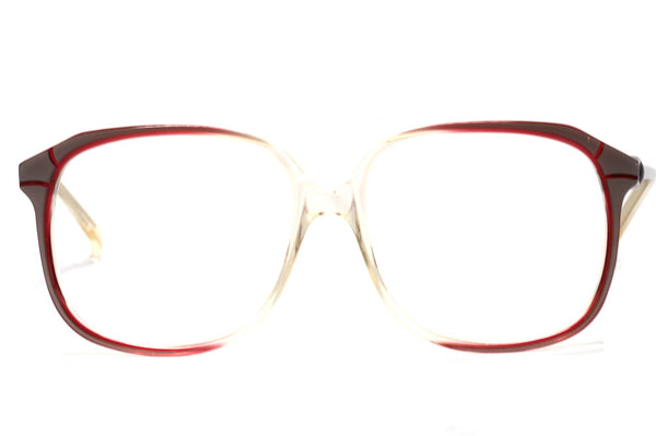 Front view vintage oliver goldsmith glasses verity made in england