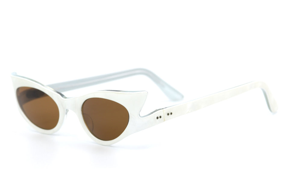 white vintage sunglasses, white sunglasses, 1950's sunglasses, ladies vintage sunglasses,
