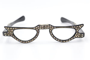 Diamanté Fold Up Glasses BLK