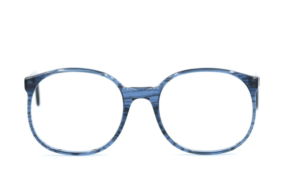 Vintage Glasses, Blue Vintage Glasses, Unisex Vintage Glasses, Sustainable Glasses