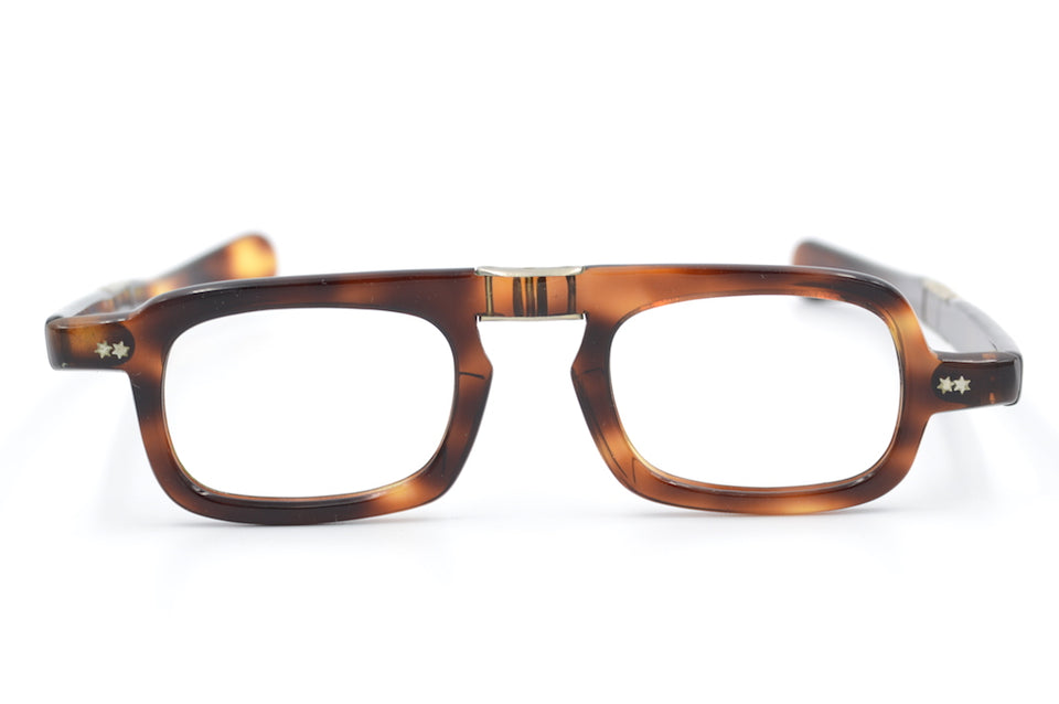 Men's Fold Up Glasses Brown Lrg