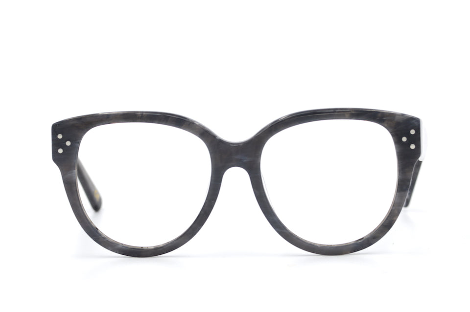 Jean oversized retro glasses by Whistles. Grey oversized retro glasses. Women's oversized glasses.