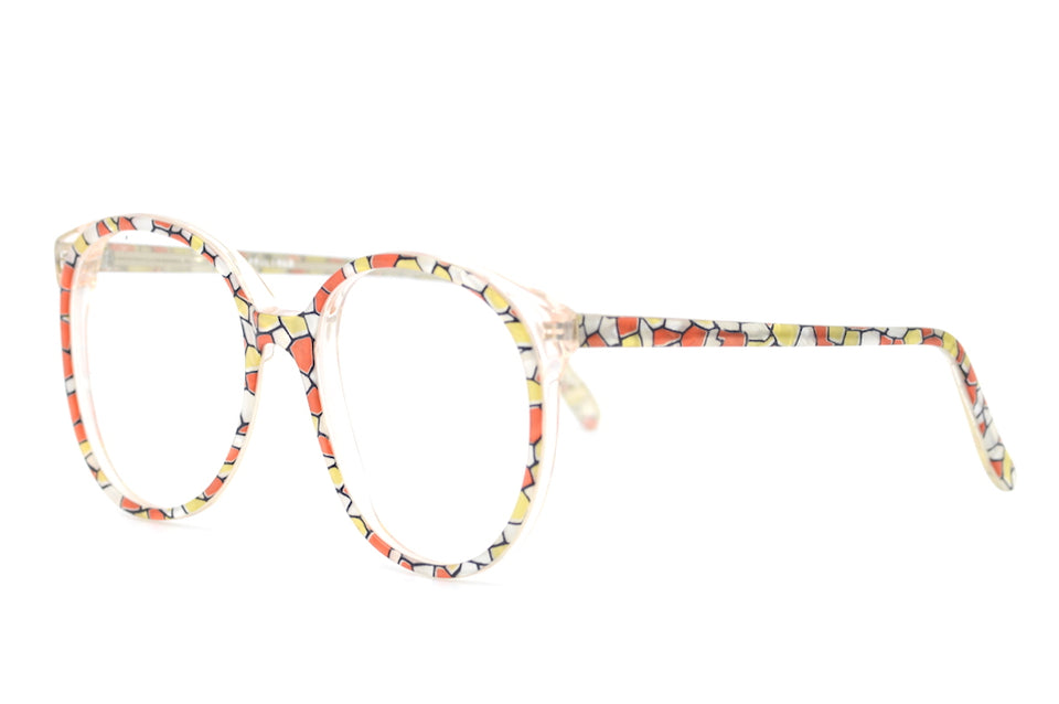 lasses, multi coloured glasses, 1980s glasses, sustainable eyewear