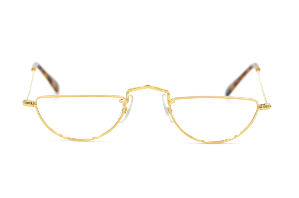 Savile Row 14KT RG Half Eye Library Glasses, Vintage half eye glasses, vintage library glasses, vintage reading glasses, gold plated glasses