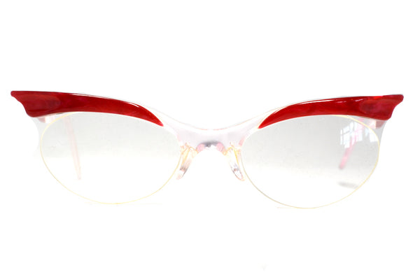 1950's glasses, red 1950's glasses, red vintage glasses, 1950s lunettes, 1950s brille, 1950s gafas, 1950s occhiali