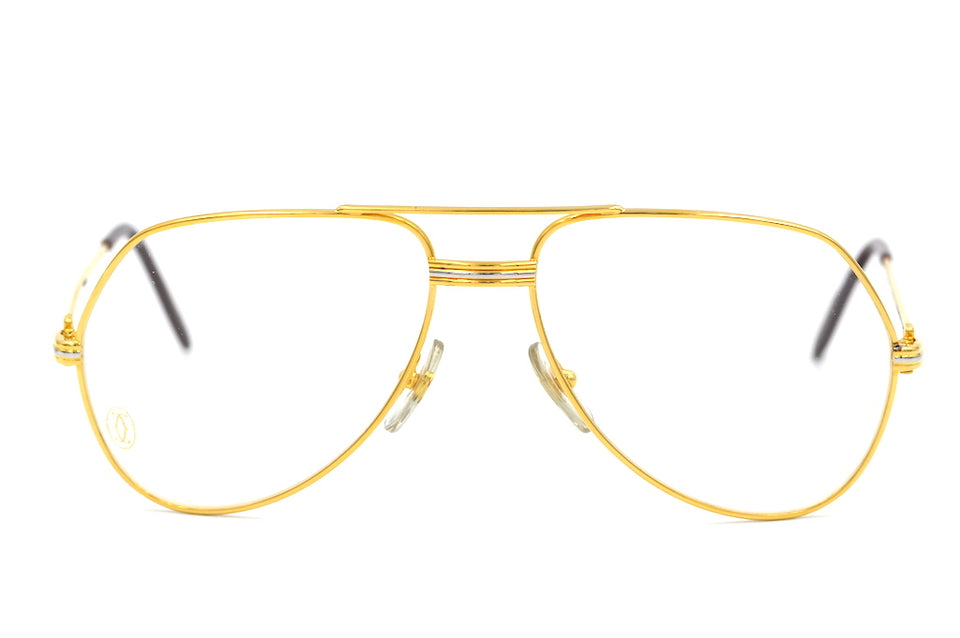 Cartier Vendome Louis Glasses. Vintage Cartier glasses. 22KT Gold Plated Glasses. Vintage Designer Glasses.