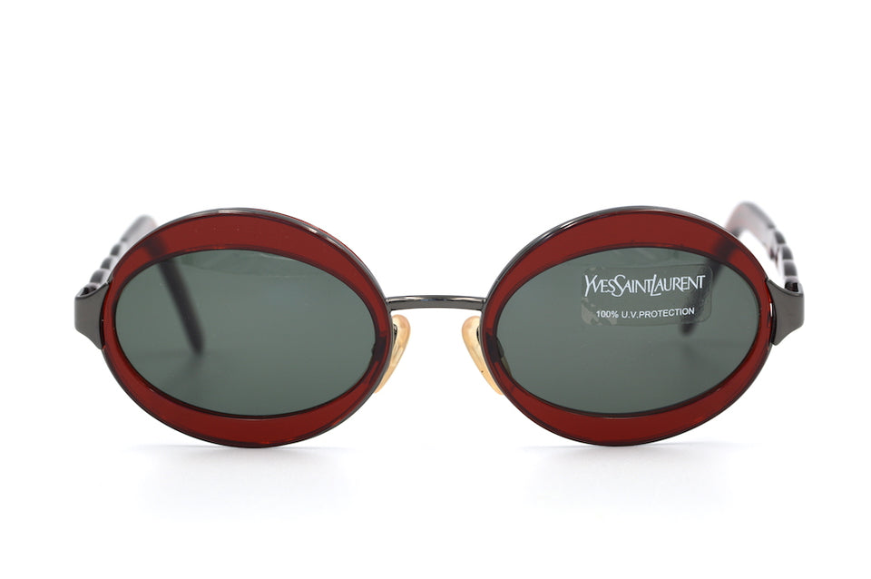 Yves Saint Laurent 6058 Y362 Vintage Sunglasses. YSL Sunglasses. Vintage YSL. Vintage Designer Sunglasses. Vintage Cat Eye Sunglasses.