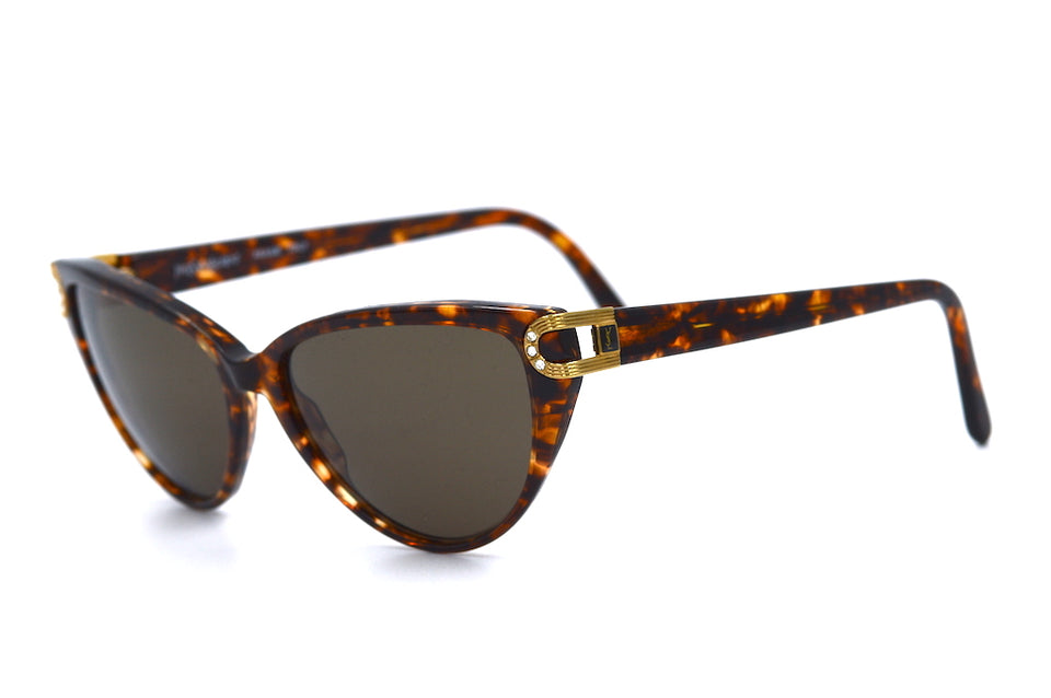 YSL Sunglasses. Yves Saint Laurent 5006 Y506 Vintage Sunglasses. Vintage Designer Sunglasses. YSL Sunglasses. YSL Cat-eye Sunglasses