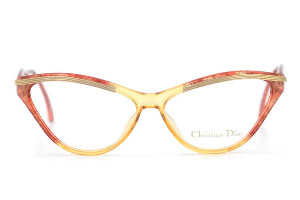Christian Dior 2649 30 Vintage Glasses. Cat Eye Vintage Glasses. Christian Dior Cat Eye Glasses. 1950's Inspired Glasses.