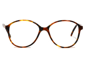 Ladies 1980's oversized oval vintage glasses in tortoiseshell