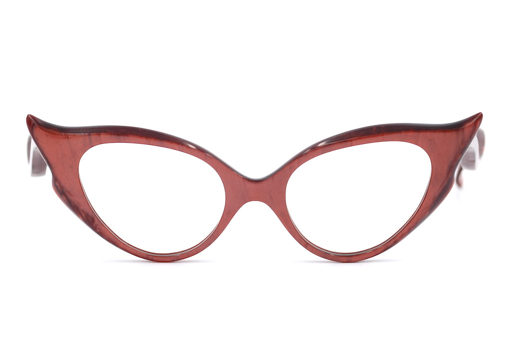 Scarlett 1950's womens vintage glasses at Retro Spectacle, Red Vintage Glasses