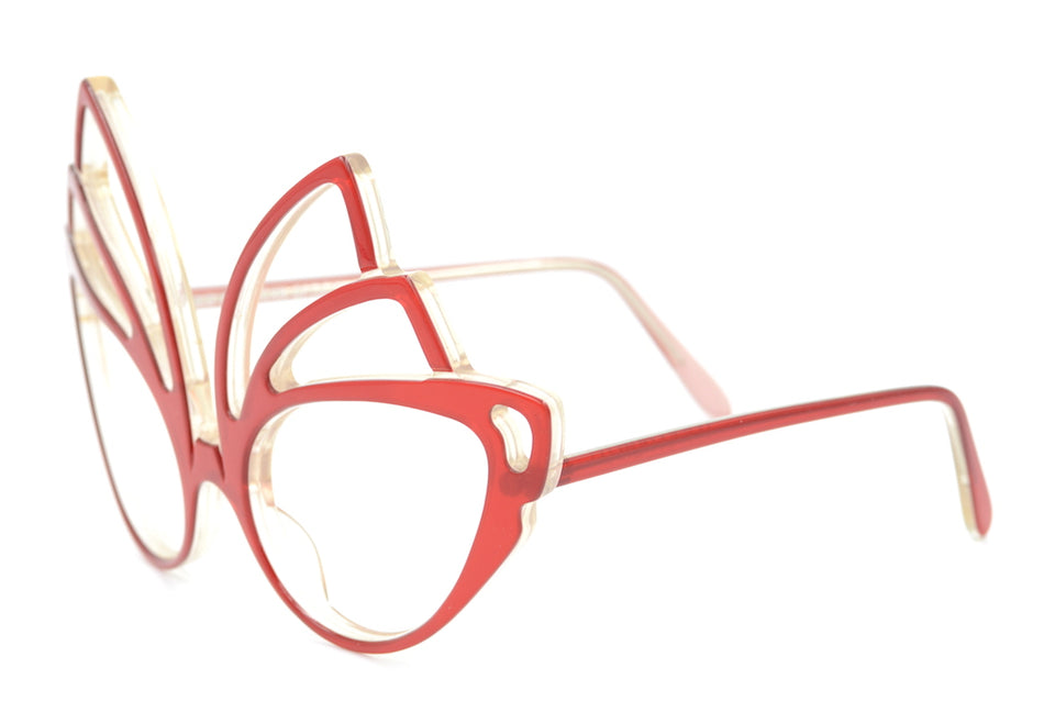 La Scala Anglo American Eyewear Fantasy Collection, La Scala Red Glasses, Vintage Anglo American Eyewear