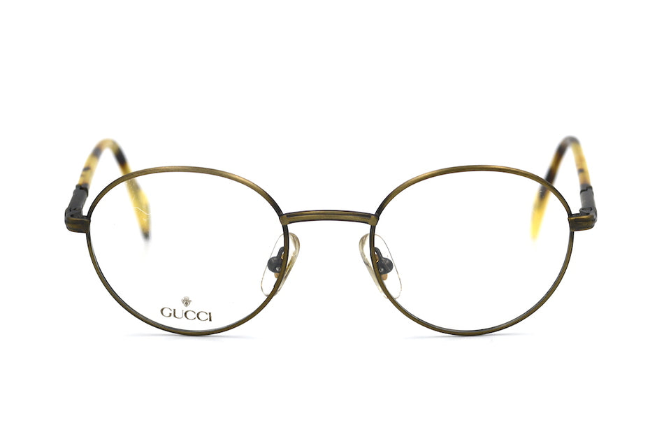 Gucci 1356 vintage glasses in colour VR6. Vintage Gucci Glasses. Round Gucci Glasses. 1908's Vintage Glasses.