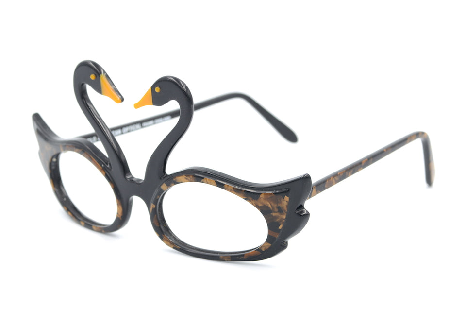 Anglo American Eyewear Fantasy Collection Swans, Vintage Anglo American Eyewear