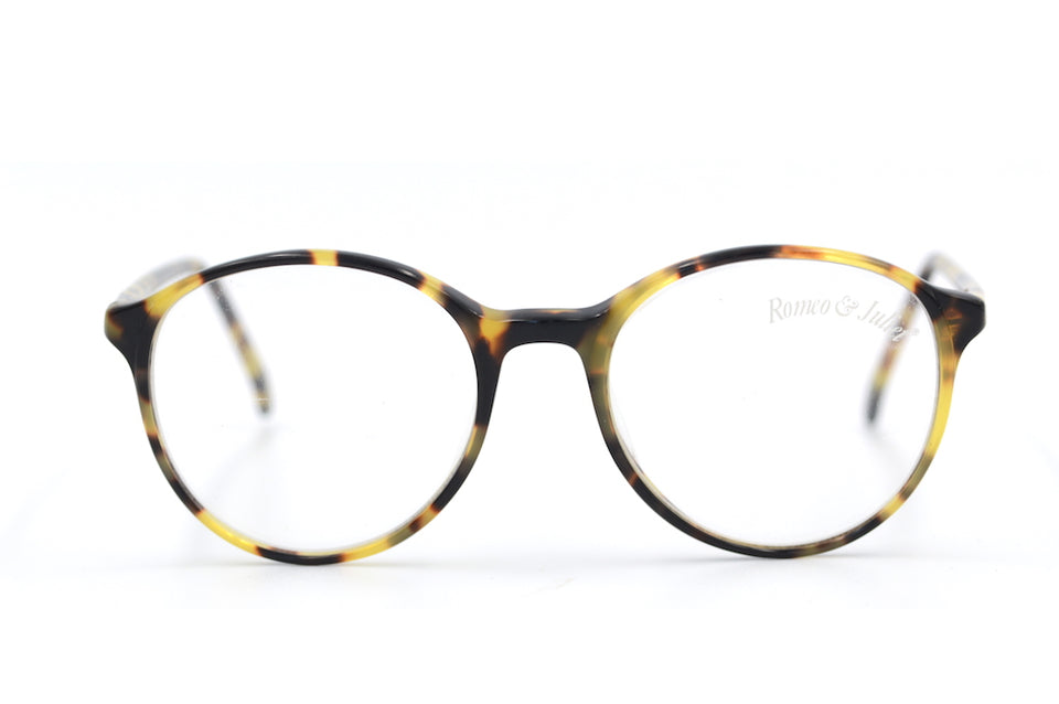 Romeo & Juliet 7050 Vintage Glasses. Round Vintage Glasses. Unisex Vintage Glasses. Sustainable Vintage Glasses.
