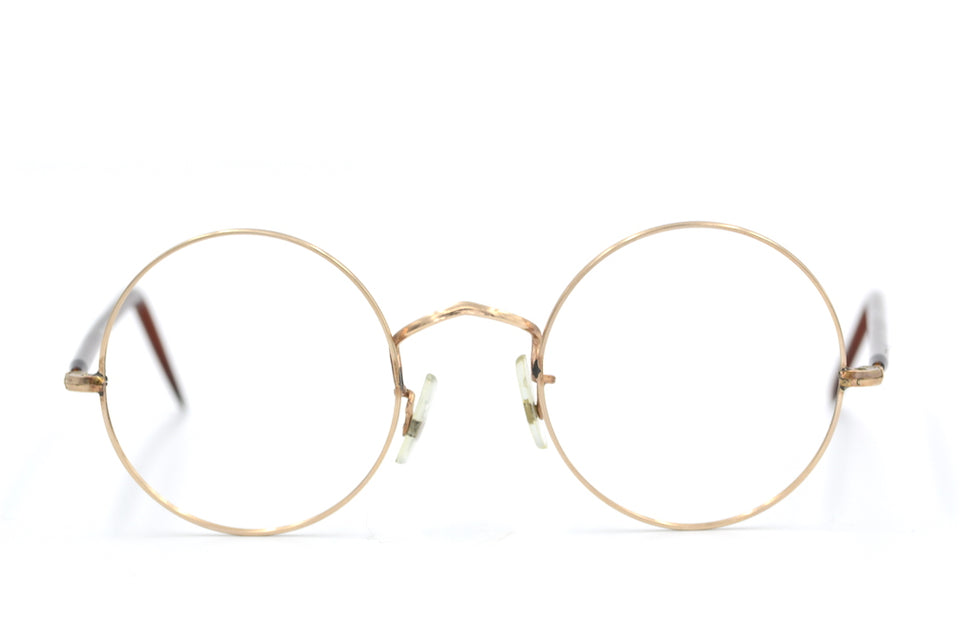 B.I.O.C Rose GOld Round Vintage Glasses.  Unisex Vintage Glasses. Buy round glasses online at Retro Spectacle. Sustainable Glasses. Cool Round Glasses.