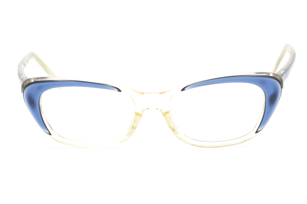 1950s cat eye glasses, 1950s spectacles, blue 1950's glasses, vintage eyewear, vintage spectaclses