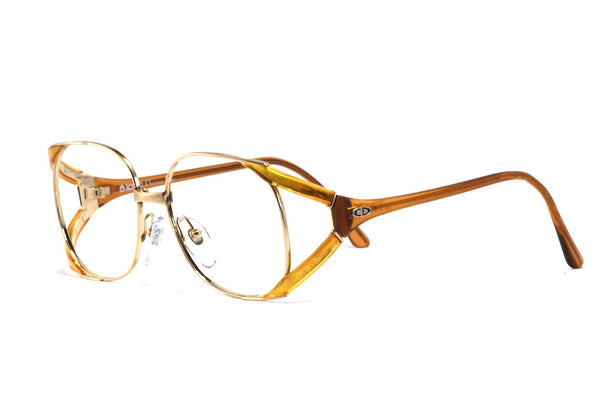 Front/side view Christian Dior 2524 1980's vintage glasses