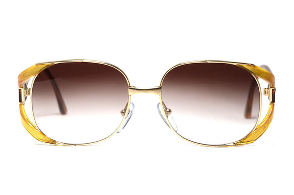Front view Christian Dior 2524 1980's Bespoke Vintage Sunglasses