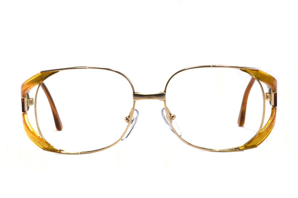 Front view Christian Dior 2524 1980's ladies vintage glasses