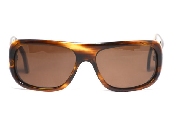 Front view Cutler and Gross of London wrap around sunglasses