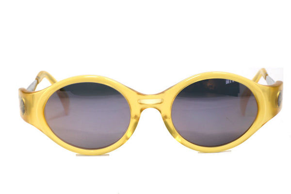 Front view Jean Paul Gaultier Otectron vintage sunglasses made in japan