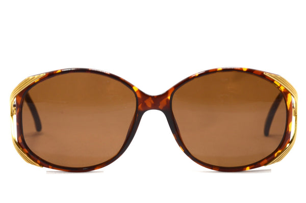 Front view Christian Dior 2428 10 1980's vintage oversized sunglasses