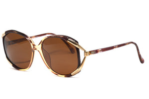 Front/side view Christian Dior 2490 1980's vintage sunglasses